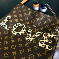 Louis Vuitton Painted LOVE leopard print