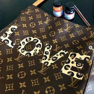Louis Vuitton Painted LOVE leopard print