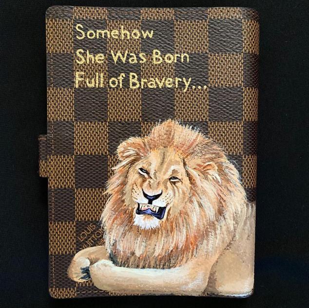 Lion Painted Louis Vuitton