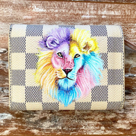 Lion Pastel design painted Louis Vuitton