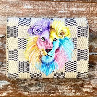 Lion Pastel design painted Louis Vuitton