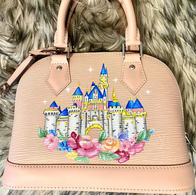 Disney castle painted Louis Vuitton Alma