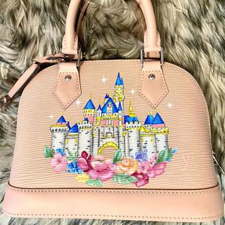 Disney castle painted Louis Vuitton Alma