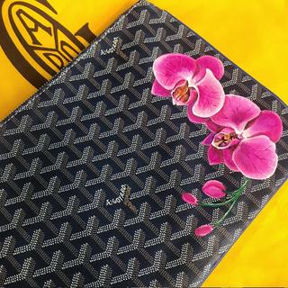 hand painted Goyard orchids design
