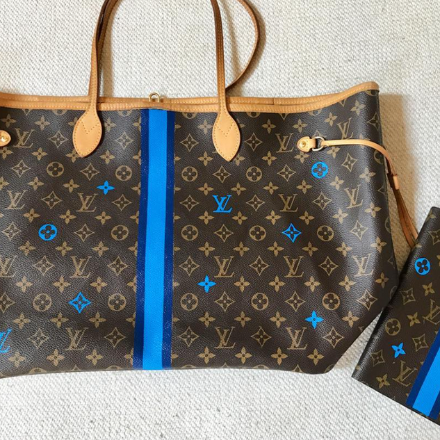 Louis Vuitton painted monograms bag and