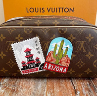 Louis Vuitton Stamps custom world travel