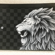 Custom Louis Vuitton Lion Graphite for N