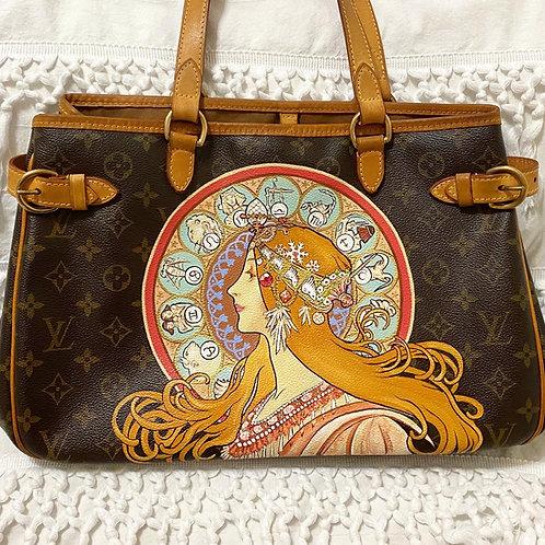 Mucha Zodiac Hand Painted Louis Vuitton Batignolles