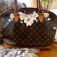 vintage floral painted Louis Vuitton