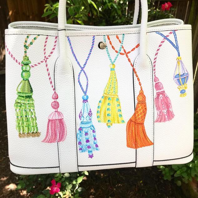 Hermes Garden Party painted tassels desi