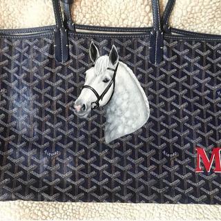 horse painting on Goyard bag