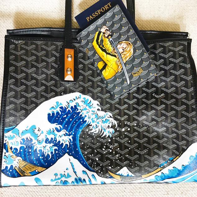 Japanese wave painted Goyard