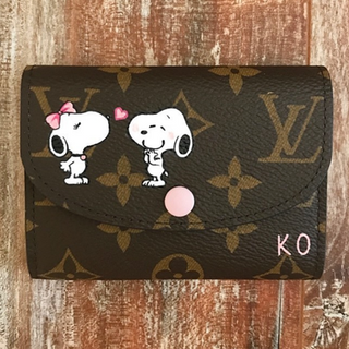 snoopy customized on Louis Vuitton walle