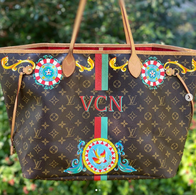 Sicilian Designed Painted Louis Vuitton