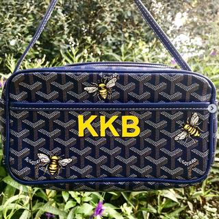 Goyard painted bees and monogram bag