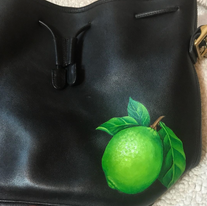 Painted Lime Realistic Coach bag art