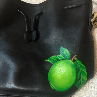 Painted Lime Realistic bag art