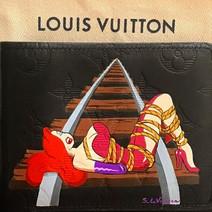 Jessica Rabbit custom painted Lv Louis V