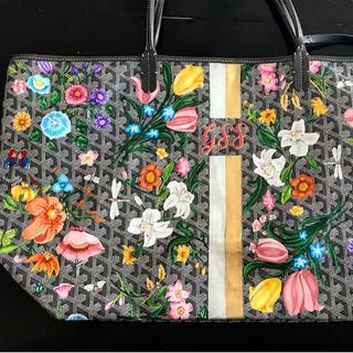 Goyard painted Gucci Flora inspired desi