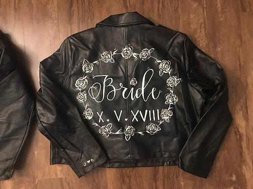 Painted Bride - Black leather jacket
