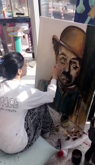 Charlie Painting Video