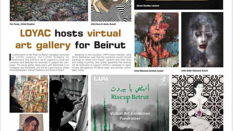 Rise Up Beirut Art Exhibtion Video