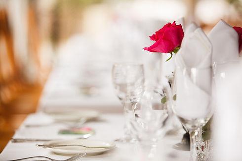 Wedding venue decoration for the recepti