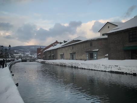 青の運河が終わり、小樽雪あかりの路が始まります。