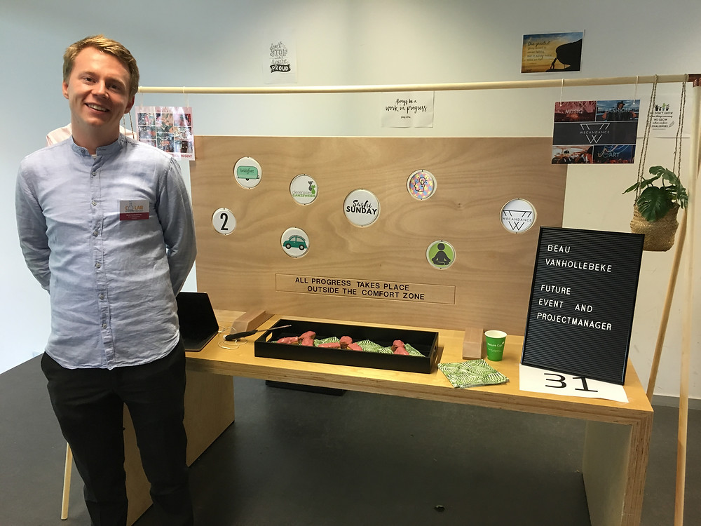 Beau Vanhollebeke Talent Fair for Business Officemanagement Event- en projectmanagement Arteveldehogeschool Gent