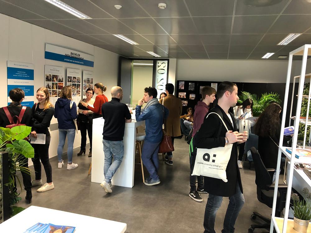 Nell Wouter Porteman infodag 7 maart Officemanagement Arteveldehogeschool Gent campus Kantienberg