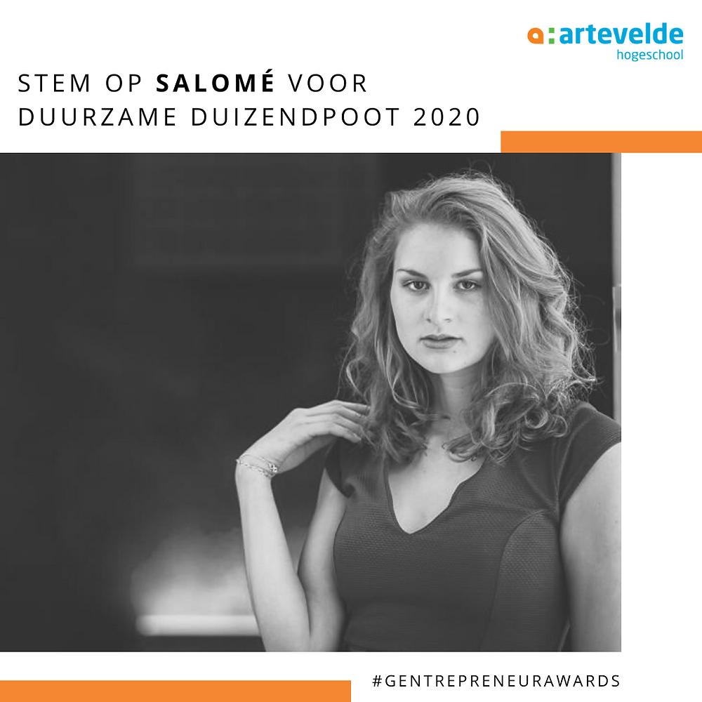 Salomé Verduyckt student-ondernemer corona Officemanagement Arteveldehogeschool Gent
