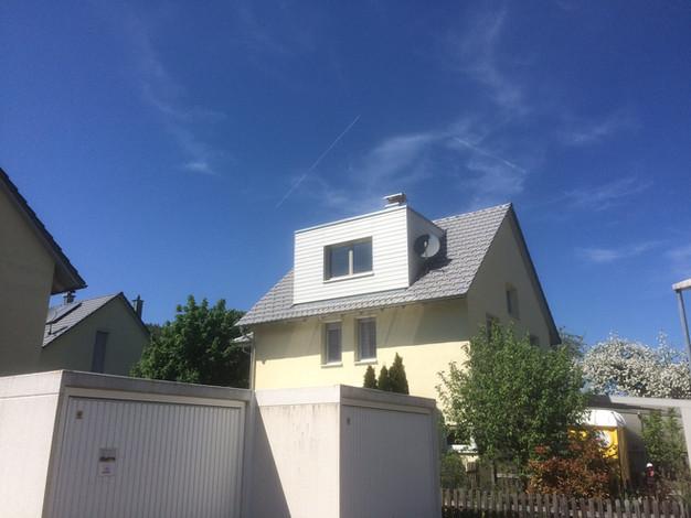 Einbau Dachgaube Mit Balkon An Der Giebelseite