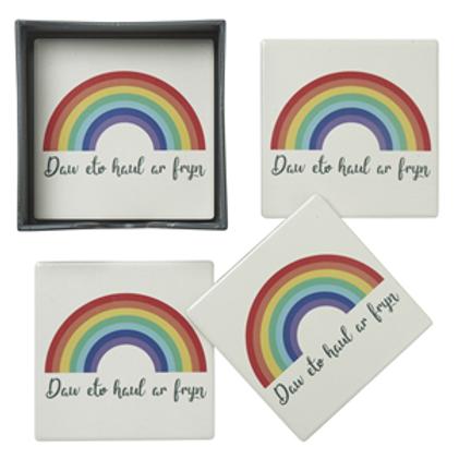 Welsh Rainbow Coasters