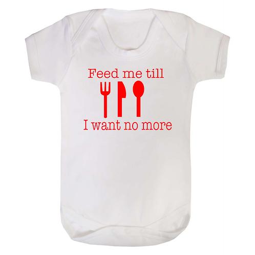 Baby Vest - Feed Me.....