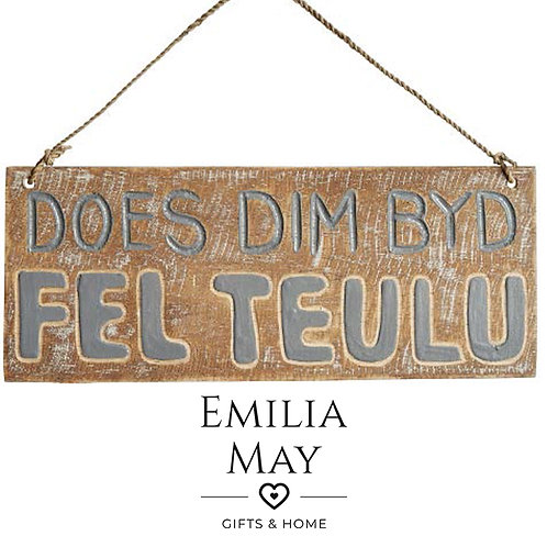 Welsh Small Carved Sign