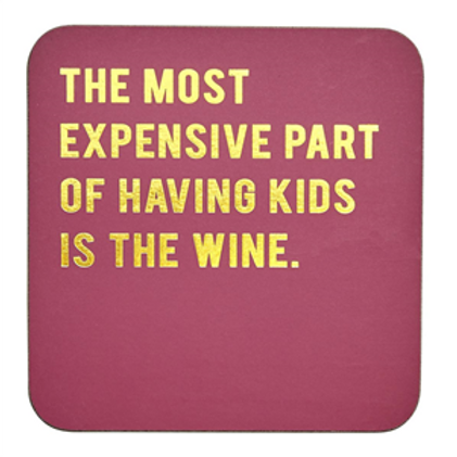 Cork-backed Coaster - Kids Wine...