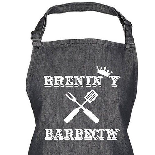 Welsh Apron - Brenin y Barbeciw (King of the BBQ)