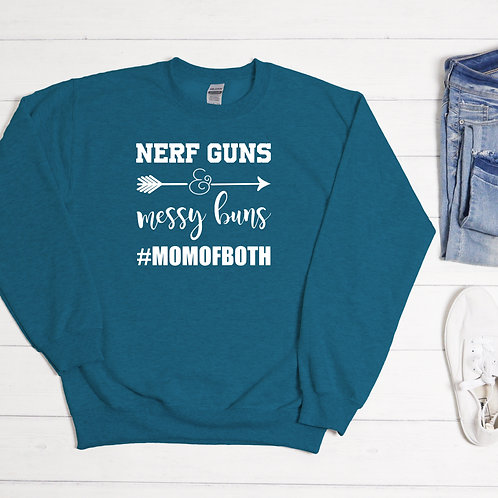 Nerf Guns & Messy Bums Sweatshirt