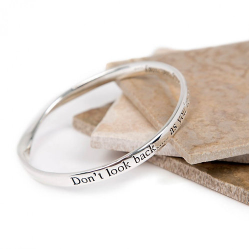 Message Bracelet - Don't Look Back...
