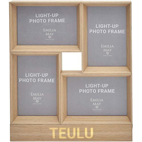 LED Light-up 'Teulu' Multi-Frame