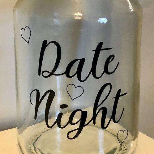 Sticker Label for Empty Jar - Date Night