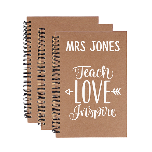 A5 Teacher Notebook - Personalised