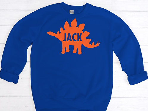 Child's Personalised Dinosaur Sweatshirt