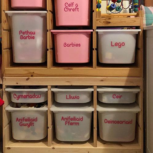 Toy Storage Organisational Label