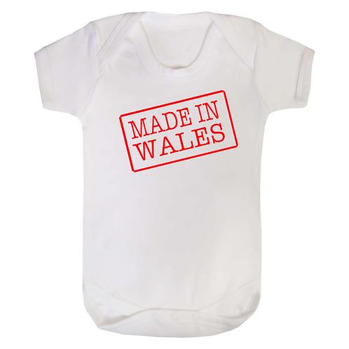 Baby Vest - Made in Wales