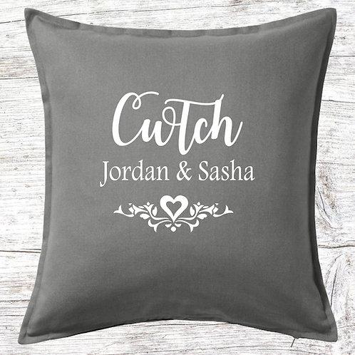 Personalised Cwtch/Cwtsh Cushion