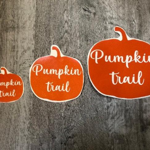 Pumpkin Trail Window Sticker Decal - Vinyl