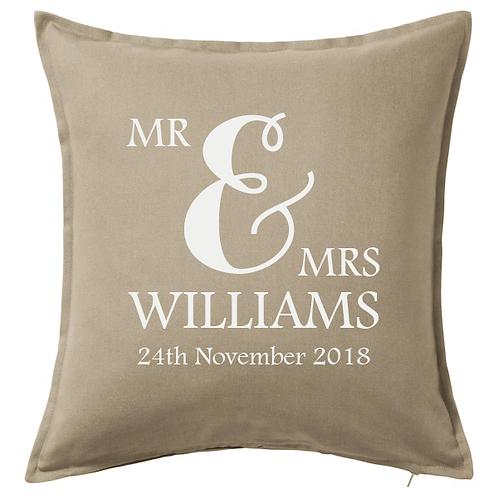 Wedding Cushion - Personalised