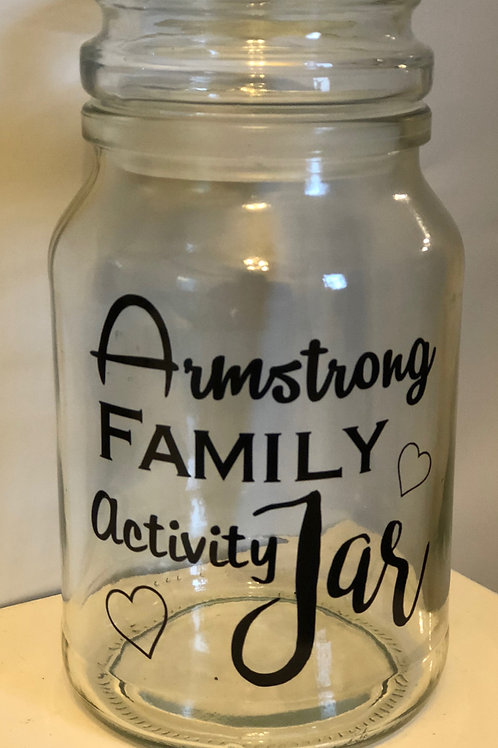 Personalised Family Activity Jar Sticker, Gifts, Family