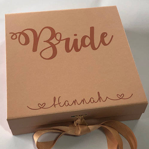 Wedding Bridal Party Gift Box